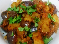Aloo baingan masala, Indian Recipe