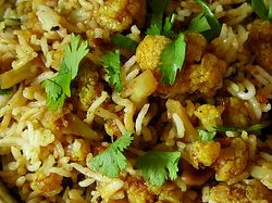 Cauliflower Biryani, Indian Recipe