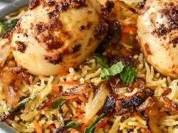 Egg Mushroom Biryani, Indian Recipe