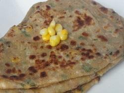 Sweet Corn Paratha, Indian Recipe